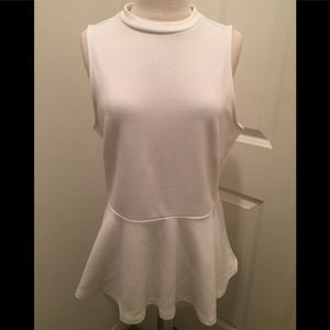 Tops - White Peplum Top Size Large